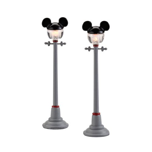 Department 56 Disney Village Mickey Street Lights General Accessory, 4.375-Inch