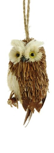 RAZ Imports Owl Ornament, Choice of Colors (dark brown)