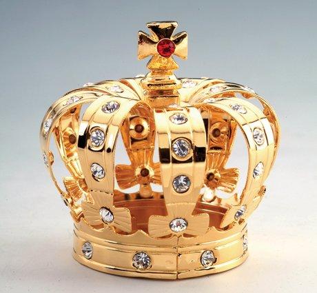 Crown 24k Gold Plated Swarovski Crystal Figure Ornament