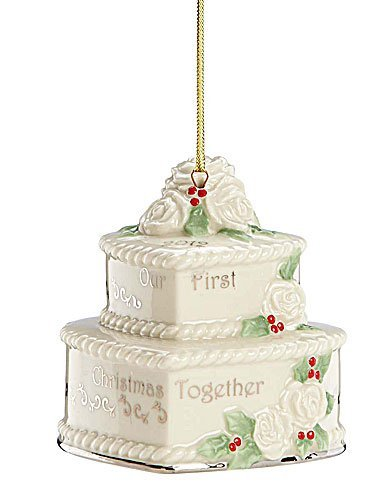 Lenox 2012 Our First Christmas Together Cake Ornament