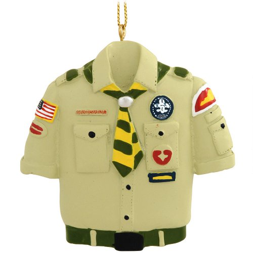 Kurt Adler Boy Scout Tan Shirt Christmas Ornament