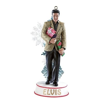 "Carlton Cards Heirloom Musical Elvis Presley ""Silent Night"" Christmas Ornament"