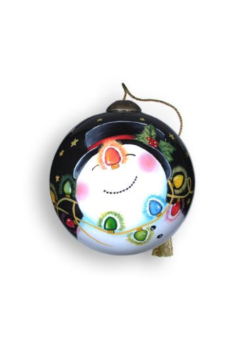 Ne'Qwa Art D-light-ful – Glass Ornament Hand-Painted Reverse Painting Distinctive 627-NEQ