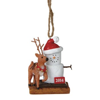 "S'mores ""2014"" Dated Reindeer Ornament"