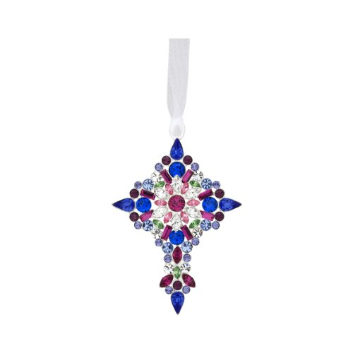 Reed & Barton Lunt Annual Jeweled Cross Ornament, 3-1/2-Inch