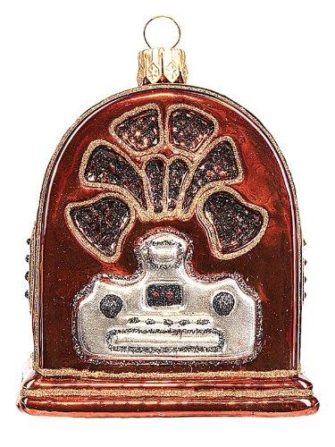 Vintage Radio Polish Mouth Blown Glass Christmas Ornament