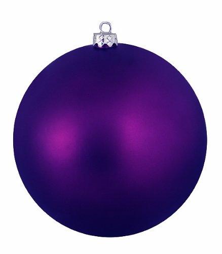 Vickerman Ball Ornament, 100mm, Purple
