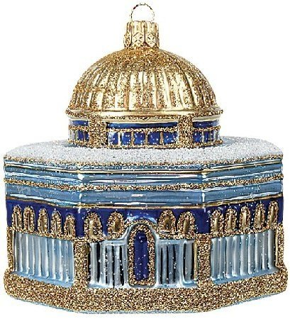 Dome of the Rock Jerusalem Polish Glass Christmas Ornament