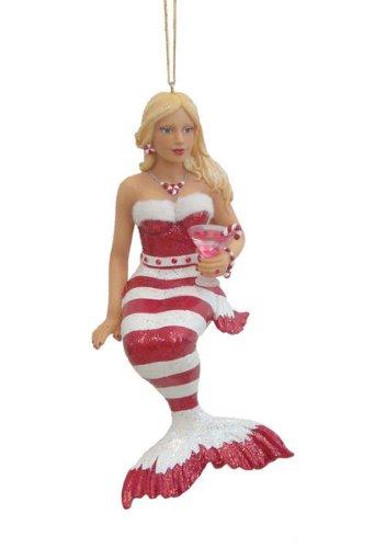 December Diamonds Peppermint Mermaid Gay Pride Christmas Ornament #55-90720
