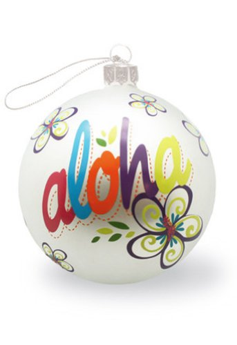 Hawaiian Glass Christmas Ornament Island Bold Aloha