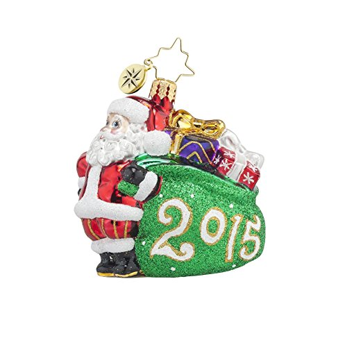 Christopher Radko 2015 Jolly Year Santa Gem Christmas Ornament