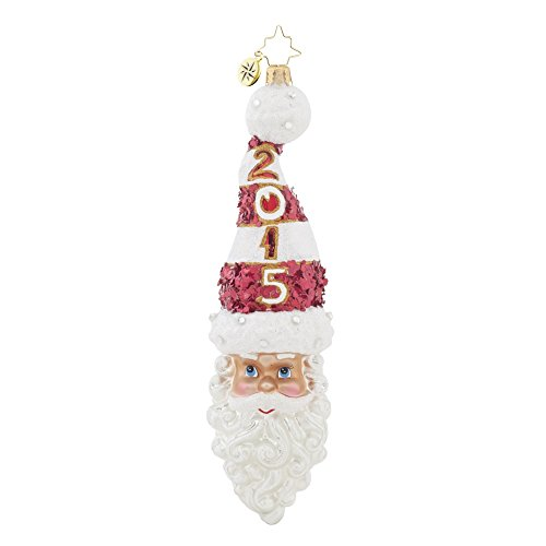 Christopher Radko 2015 Kringle Twist Santa Christmas Ornament