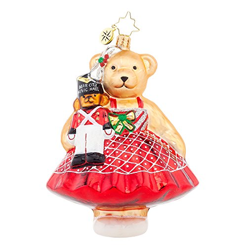 Christopher Radko Music Hall Muffy VanderBear Christmas Ornament