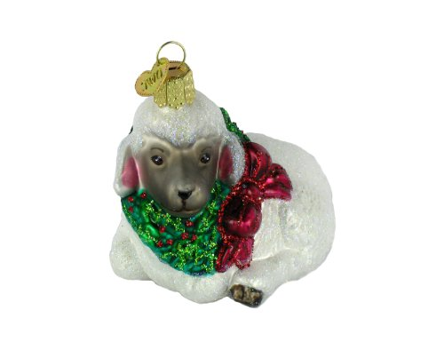 Old World Christmas – Little Lamb Glass Ornament