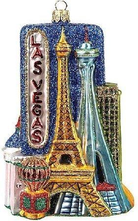 Las Vegas Nevada Travel Polish Glass Christmas Ornament