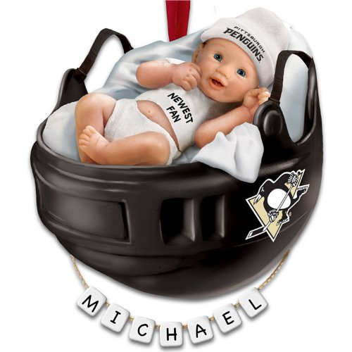 NHL® Pittsburgh Penguins® Personalized Baby's First Ornament by The Bradford Exchange