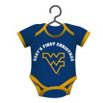 NCAA Licensed Baby Shirt Onesie Ornament (West Virginia Mountaineers)