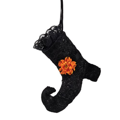 Department 56 Halloween Decor Witches Shoe Ornament, 4-Inch