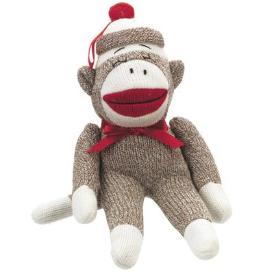 Midwest CBK Large Sock Monkey Christmas Ornament