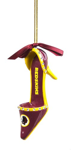 Team Shoe Ornament, Washington Redskins
