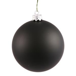 Vickerman 34799 – 2.75″ Black Matte Ball Christmas Tree Ornament (12 pack) (N590717DMV)