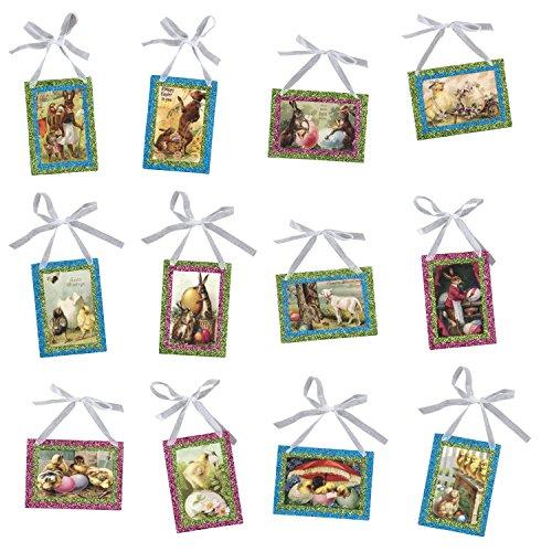 Pinking Postcards Vintage Image Easter Ornaments Set of 12