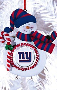 New York Giants Jolly Christmas Snowman Ornament
