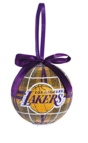 100mm LED Ball Ornament, Los Angeles Lakers