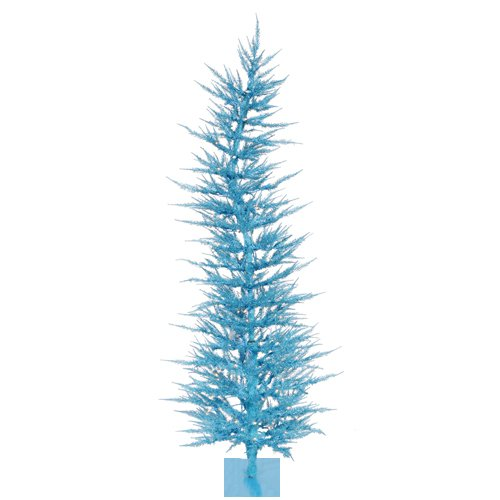 Vickerman 100-Piece Whimsical Ornament with 193 Tips, Sky Blue, 5-Feet by 24-Inch