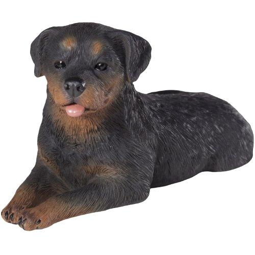 Sandicast Rottweiler Sculpture, Lying, Small Size