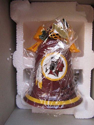 Danbury Mint Christmas Bell Ornament 2004 NFL Washington Redskins with Box