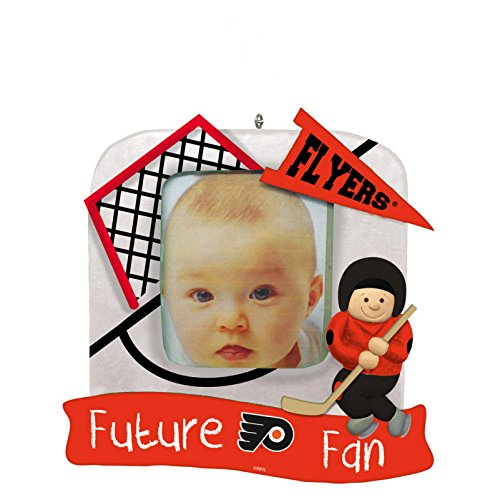 Philadelphia Flyers Official NHL 5.25 inch x 5 inch x 2.5 inch Future Fan Photo Frame Christmas Ornament by Evergreen