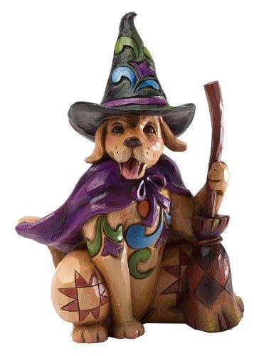 Jim Shore for Enesco Heartwood Creek Pint Sized Halloween Dog Figurine, 5.25-Inch