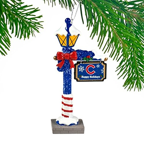 Chicago Cubs Official MLB 5.7 inch x 3 inch Street Lamp Christmas Ornament by Forever Collectibles