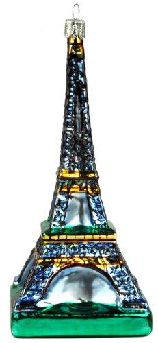 Eiffel Tower Paris German Glass Christmas Ornament
