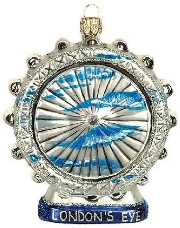 London Eye Travel Polish Glass Christmas Ornament