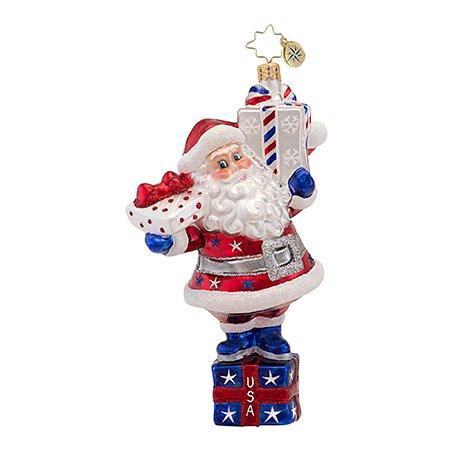 Christopher Radko USA All The Way! Christmas Ornament