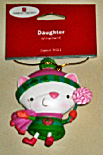 Carlton American Greetings Ornament 2011 Daughter – Kitty with Lollipop – #AG0R-007Z