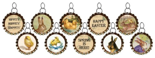 Primitives By Kathy Easter Bottle Cap Charms