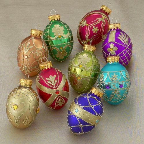 45MM GLASS EGG ORNAMENTS 9PC. – Christmas Ornament