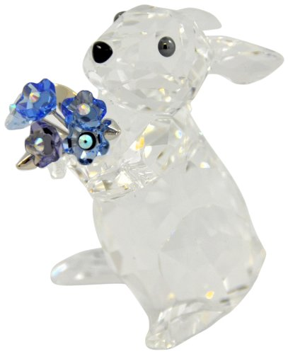 Swarovski Rabbit with Forget-Me-Not Figurine