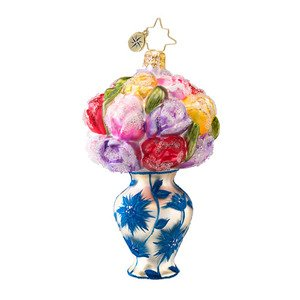 Christopher Radko Glass Spring's in Bloom Floral Christmas Ornament #1017063
