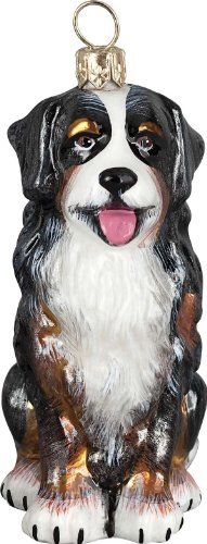The Pet Set Blown Glass European Dog Ornament by Joy to the World Collectibles – Bernese Mountain Dog