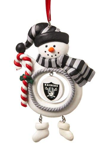 Oakland Raiders Jolly Christmas Snowman Ornament