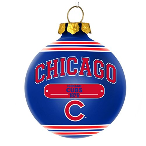 Chicago Cubs Official MLB 2014 Year Plaque Ball Ornament by Forever Collectibles