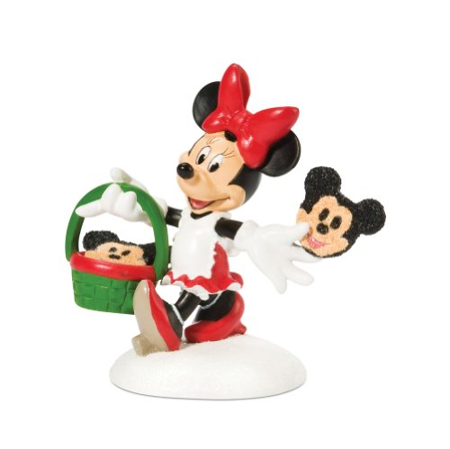 Department 56 Disney Village Accessory Figurine, Minnie Decorating Cookies
