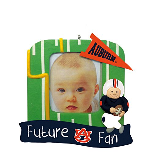 Auburn Tigers Official NCAA 5.25 inch x 5 inch x 2.5 inch Future Fan Photo Frame Christmas Ornament by Evergreen