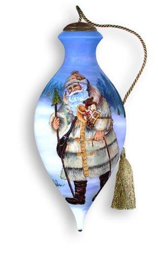 Ne'Qwa Art Norwegian Santa – Glass Ornament Hand-Painted 758-NEQ