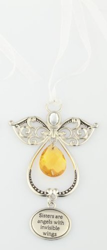 Enlightened Angel Ornament by Ganz – Sisters are angels with invisible wings
