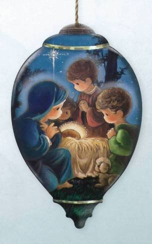 Ne' Qwa Art GLORY TO THE NEWBORN KING Christmas Ornament #7131177